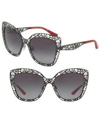 Dolce & Gabbana - Dolce & Gababana 56mm Gradient Square Sunglasses - - Lyst