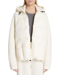 Moncler - Spa Quilted Down & Knit Hooded Jacket - Lyst
