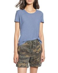 James Perse - Sheer Slub Crewneck Tee - Lyst