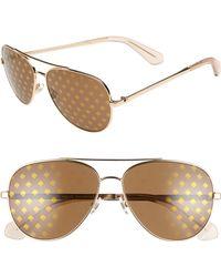 650ba61059 Lyst - Kate Spade Briar Polarized Sunglasses Tortoise in Black