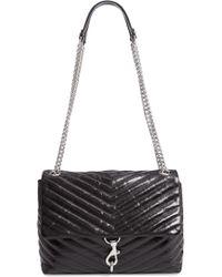 Rebecca Minkoff - Edie Flap Front Leather Shoulder Bag - - Lyst
