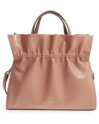 Mulberry | Lynton Ruffle Calfskin Leather Satchel | Lyst