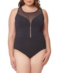 Bleu Rod Beattie - Mesh Plunge One-piece Swimsuit - Lyst