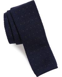 Eleventy - Stitch Wool Knit Tie - Lyst