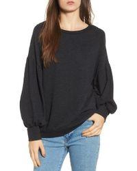 Lush - Puff Sleeve Sweatshirt - Lyst