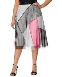 REBEL WILSON X ANGELS - Colorblock Pleated Mesh Skirt - Lyst