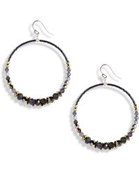 Chan Luu - Mixed Stone & Crystal Hoop Earrings - Lyst