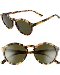 cab408cb6f Lyst - Marine Serre Tralyx Slim Moon Sunglasses in Metallic