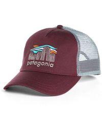 Patagonia - Fitz Roy Boulders Layback Trucker Hat - Purple - Lyst