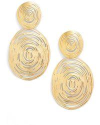 Gas Bijoux - Wave Double Drop Earrings - Lyst
