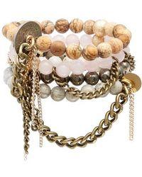 THE LACE PROJECT - Set Of 4 Bead Stretch Bracelets - Lyst