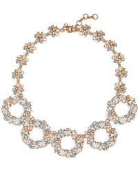 J.Crew - Floral Circle Statement Necklace - Lyst