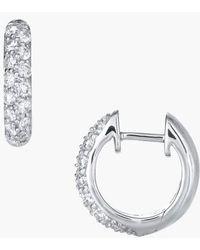 Kwiat - Diamond Pave Hoop Earrings - Lyst