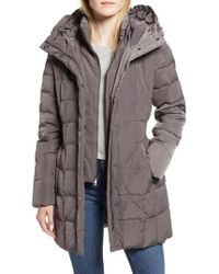 Cole Haan - Cole Haan Hooded Down & Feather Jacket - Lyst