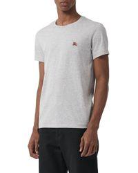 Burberry - Logo Embroidered Crewneck T-shirt - Lyst