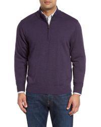 Cutter & Buck - 'douglas' Quarter Zip Wool Blend Sweater - Lyst