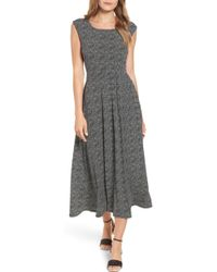 Chaus - Dot Side Ruched Maxi Dress - Lyst