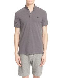 The Kooples | Sport Pipe-trimmed Band Collar Pique Polo | Lyst