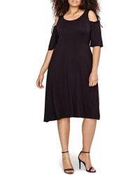 MICHEL STUDIO | Shoulder Tie Fit & Flare Dress | Lyst