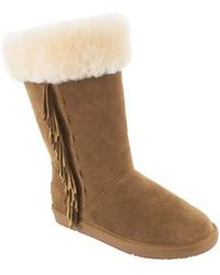Minnetonka - Canyon Genuine Shearling Trim Boot - Lyst