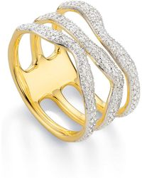 Monica Vinader - 'riva' Three Band Diamond Ring - Lyst