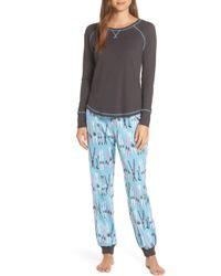 Munki Munki - Knit & Flannel Pajamas - Lyst