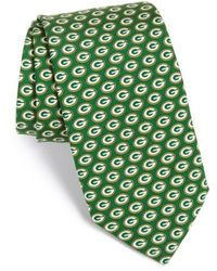 Vineyard Vines - 'green Bay Packers - Nfl' Woven Silk Tie, Green - Lyst