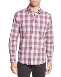 Zachary Prell - Greene Regular Fit Gingham Sport Shirt - Lyst