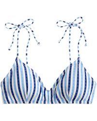 75fdf277dc0e5 J.Crew - Shoulder-tie French Bikini Top In Suckered Contrast Stripe - Lyst