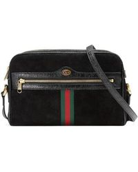 Gucci - Ophidia Small Suede Crossbody Bag - Lyst