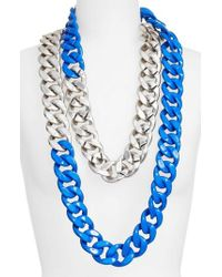 Adia Kibur - Colorblock Link Necklace - Lyst