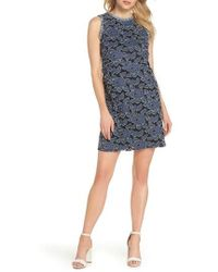Julia Jordan - Burnout Denim Shift Dress - Lyst