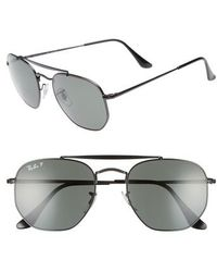 Ray-Ban - Marshal 54mm Polarized Aviator Sunglasses - Lyst