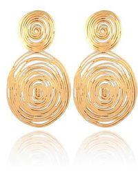 Gas Bijoux - 'wave' Double Drop Earrings - Lyst