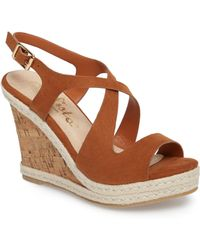 Callisto - Brielle Wedge Sandal - Lyst