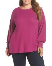 Gibson - Blouson Sleeve Fleece Sweater - Lyst