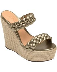 Schutz - Dyandre Braided Leather Espadrille Wedge Sandals - Lyst