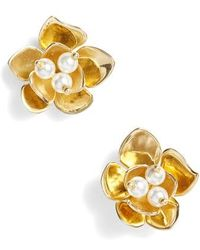 Vince Camuto - Floral Stud Earrings - Lyst