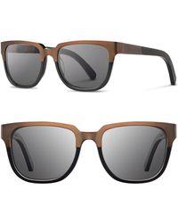 Shwood - 'prescott' 52mm Titanium & Wood Sunglasses - - Lyst