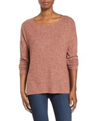 Gibson - Cozy Ballet Neck High/low Pullover - Lyst