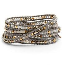 Chan Luu - Semiprecious Stone Leather Wrap Bracelet - Lyst