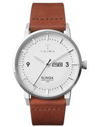 Triwa | Klinga Leather Strap Watch | Lyst