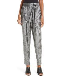 Brochu Walker - Nives Metallic Velvet Pants - Lyst
