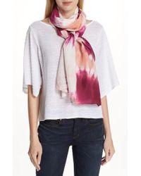Eileen Fisher - Tie Dye Silk Scarf - Lyst