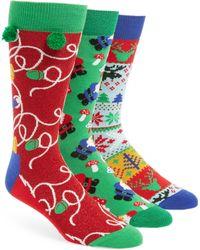 Happy Socks - Holiday 3-pack Socks Boxed Set, Green - Lyst