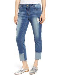 Wit & Wisdom - Flex-ellent Distressed Straight Leg Jeans - Lyst