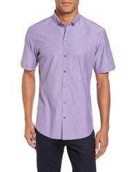 Zachary Prell - Olson Slim Fit Dobby Sport Shirt - Lyst