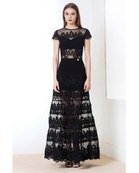 Bronx and Banco | Flamenco Lace Inset Gown | Lyst