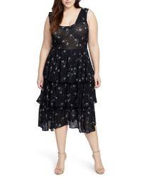 RACHEL Rachel Roy - Tiered Knit Dress - Lyst