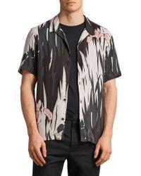 AllSaints - Nahiku Slim Fit Sport Shirt - Lyst